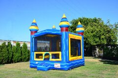 Blue Artic Bounce House (W/Basketball hoop)
