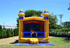 Volcano Jump Bounce House (W/Basketball hoop)