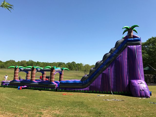 30' Purple Crush Dual Lane Water Slide/Slip-N-Slide
