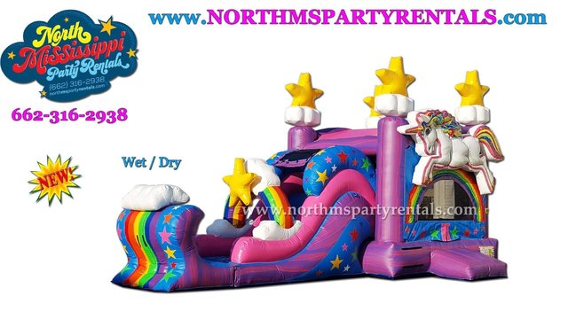 Unicorn Bounce House/Slide Combo