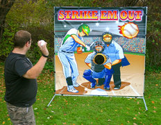 Strike Em Out Baseball Toss Frame Game