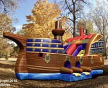 Pirate Ship Bounce House/Slide Combo