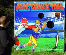 Quarterback Toss Football Frame Game