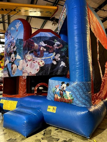 Mickey Mouse Bounce House/Slide Combo