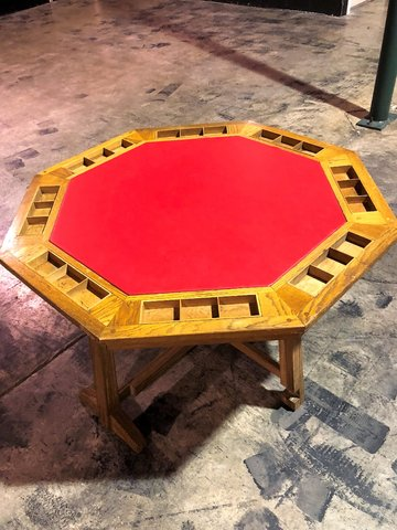Wooden Poker Table