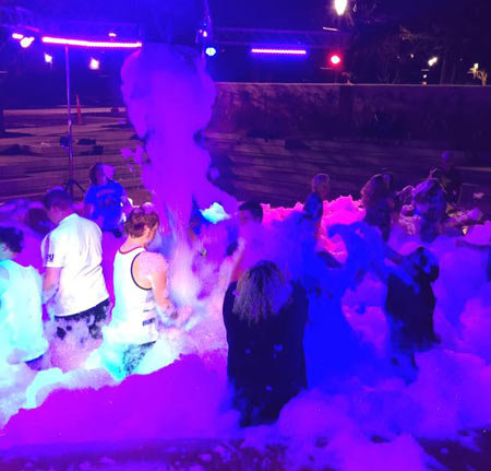 Glow in the Dark Foam Party
