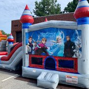 Frozen Dual Lane Wet/Dry Bounce House Combo