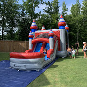 Dual Lane Wet/Dry Bounce House Combo