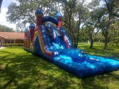 16' double lane wet or dry slide