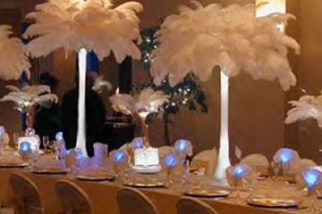 O'Brien Productions Party Rental Roaring 20's Feather Centerpieces