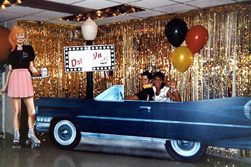 O'Brien Productions Party Rental 50's Car Hop and Car