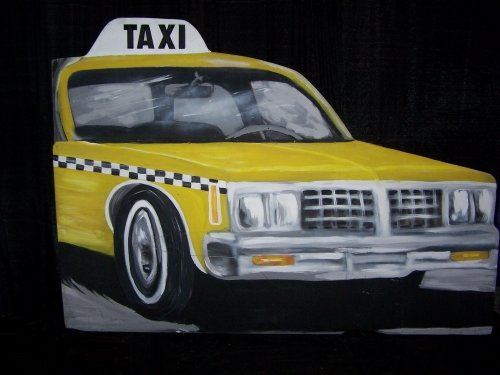 Photo Front - Taxi Cab Car -  Big City Lights Theme