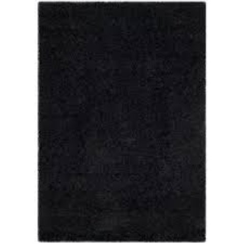 Rugs and Runners  - 5' x 7' Black Shag Rug
