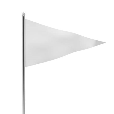 Flags - Triangle - White