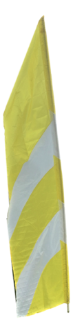 Flags - Feather - White -Yellow