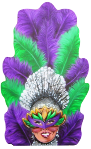 Mardi Gras Theme Party - Showgirl Flat Prop