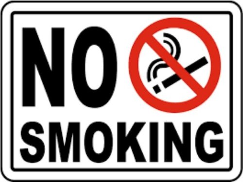 Tent - No Smoking Sign