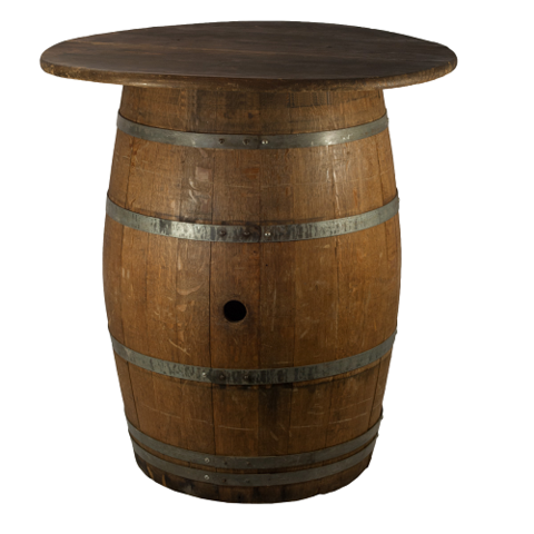 Tables - Whiskey Barrel Highboy Table