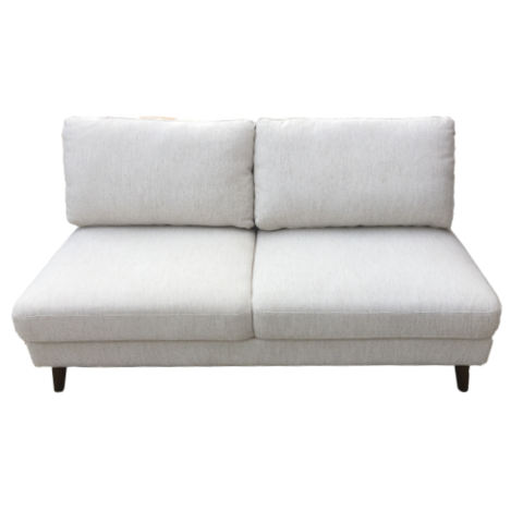 Chairs - White Armless Love Seat
