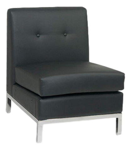Chairs - Black Armless Chair