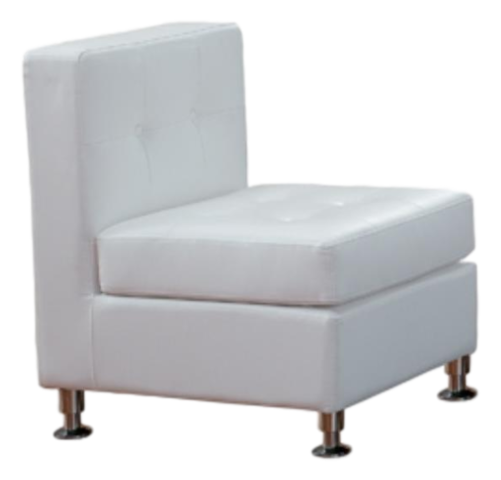 Chairs - White Armless Chair