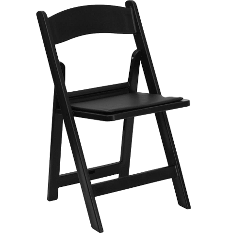 Chairs - Folding Black Padded