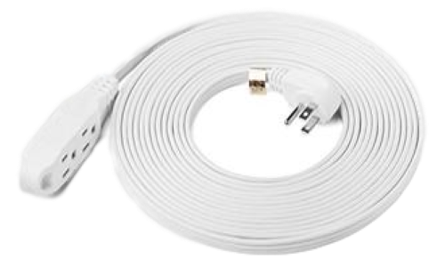 25 Foot White Extension Cord