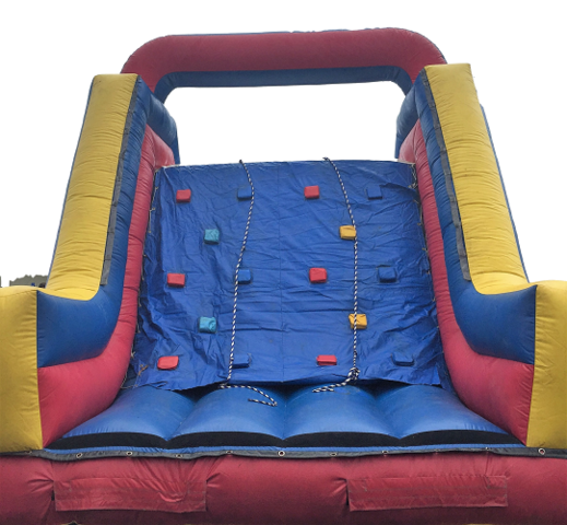 18' Slide with Rock Wall Climb Combination