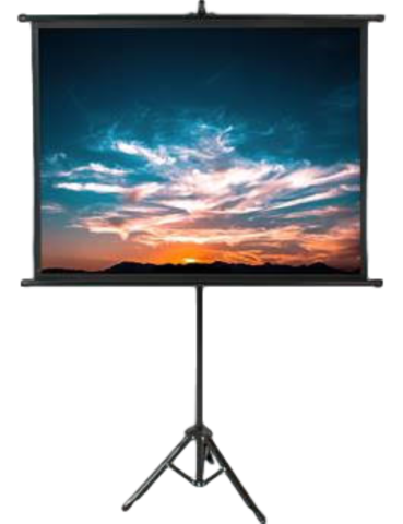 Sound and Lighting  - Projector Screen - Pull Up
