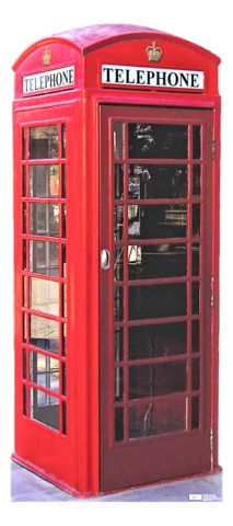 Superhero Theme Party - Phone Booth - Red - Superman - Stand Up