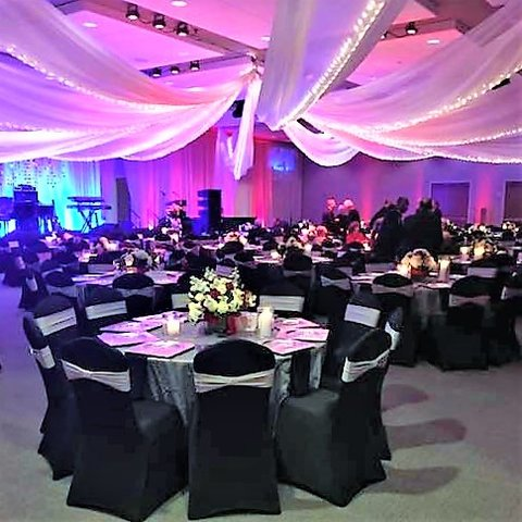 Drape - Swag Draped Ceiling -Prom - Formal Events - Galas