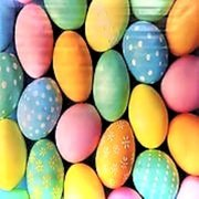 Easter Eggs Backdrop