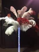 Casino Feather Centerpiece