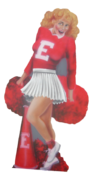 Cheerleader Photo Flat