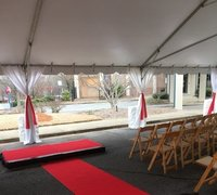 Tent with Red Carpet and Stage