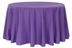 "108"" Round Poly Purple Tablecloth"