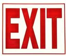 Exit Sign for Tent