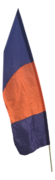 Orange and Blue Feather Flag