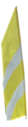 Yellow and White Feather Flag