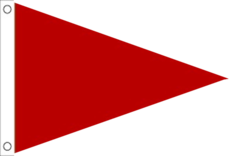 Red Triangle Flag