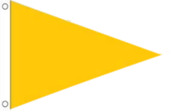 Yellow Triangle Flag