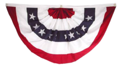 6' x 3' Patriotic Red, White, & Blue Bunting