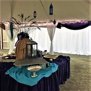 Peacock Feathers & Table Decor