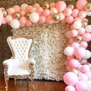 Pink, White, & Gold Photo Wall