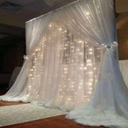 Lighted Curtain with Pipe & Drape