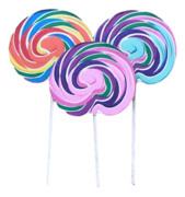 Lollipop Prop - Green and Purple