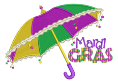 Mardi Gras Umbrellas Decorating