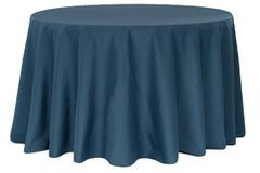 "90"" Poly Navy Blue Tablecloth"