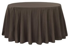 "90"" Round Poly Black Tablecloth"