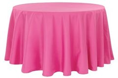"90"" Round Poly Pink Tablecloth"